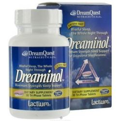 Dream Quest Nutraceuticals Dreaminol Maximum Strength Sleep Support 30