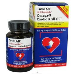 "Twinlab Krill Essentials Omega 3 Cardio Krill Oil 60 Gelcaps No ""Repeats"""