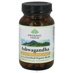 Organic India Ashwagandha Relieves Stress Builds Vitality 90 Vegetarian 851469000168