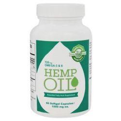 Manitoba Harvest Hemp Oil Essential Fatty Acid Supplement 1000 MG 60