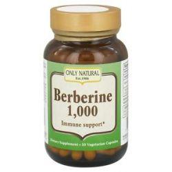 Only Natural Berberine Immune Support 1000 MG 50 Vegetarian Capsules