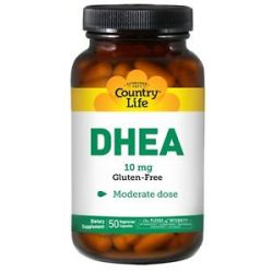 Country Life DHEA Dehydroepiandrosterone 10 MG 50 Vegetarian Capsules