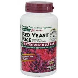 Nature's Plus - Herbal Actives Red Yeast Rice Extended Release 600 mg. - 60
