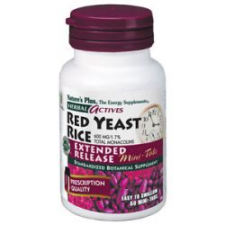 Nature's Plus Herbal Actives Extended Release Red Yeast Rice Mini Tabs 600 MG