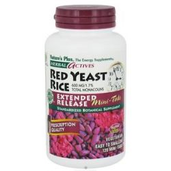 Nature's Plus Herbal Actives Red Yeast Rice Mini Tabs Extended Release 600 MG