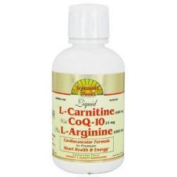 Dynamic Health Liquid L Carnitine 1000 MG with Coq 10 25 MG Plus L Arginine