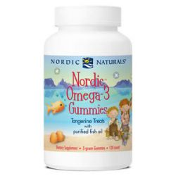 Nordic Naturals Nordic Omega 3 with Purified Fish Oil Tangerine Treats 120