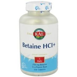 Kal Betaine HCL 250 Tablets