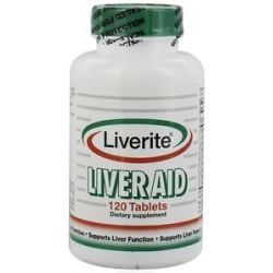 Liverite Products Liver Aid 120 Tablets 616110121506