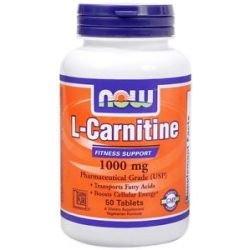 Now Foods L Carnitine 1000 MG 50 Tablets