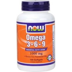 Now Foods Omega 3 6 9 1000 MG 100 Gelcaps
