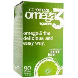 Coromega Omega 3 Squeeze Lemon Lime 90 Packet S