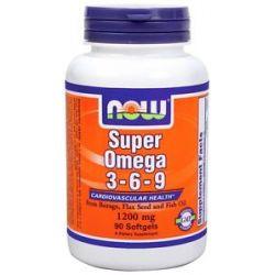 Now Foods Super Omega 3 6 9 1200 MG 90 Softgels
