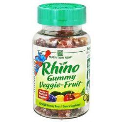 Nutrition Now Rhino Veggie Fruit Bears 60 Gummies