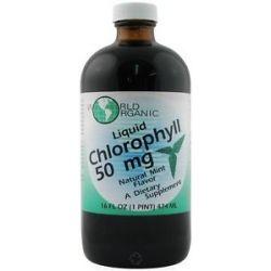 World Organic Liquid Chlorophyll Mint 50 MG 16 Oz