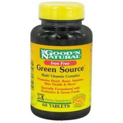 Good 'N Natural Green Source Iron Free 60 Tablets