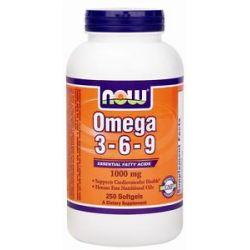 Now Foods Omega 3 6 9 1000 MG 250 Softgels