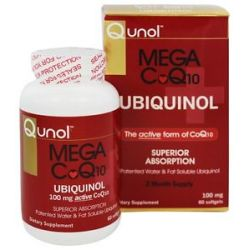 Qunol Mega CoQ10 Ubiquinol 100 MG 60 Softgels