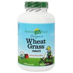 Amazing Grass Wheat Grass 1000 MG 200 Tablets 829835012008