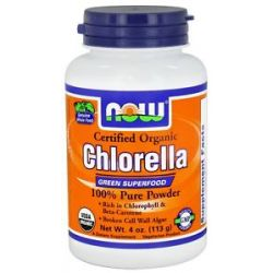 Now Foods Chlorella Pure Powder Certified Organic 4 Oz