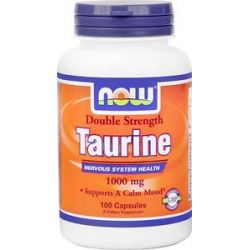 Now Foods Taurine Double Strength 1000 MG 100 Capsules