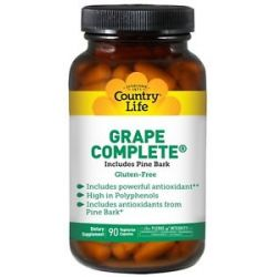 Country Life Grape Complete with Pine Bark 90 Capsules