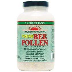 YS Organic Bee Farms Fresh Bee Pollen Whole Granules 8 Oz