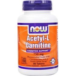 Now Foods Acetyl L Carnitine 750 MG 90 Vegetarian Tablets