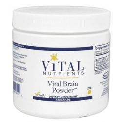 Vital Nutrients Vital Brain Powder Lemon Flavor 180 Grams