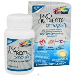 Centrum Pronutrients OMEGA3 EPA DHA Supplement 50 Gelcaps 300057604504