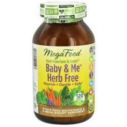 MegaFood Baby Me Herb Free Multivitamin 120 Tablets