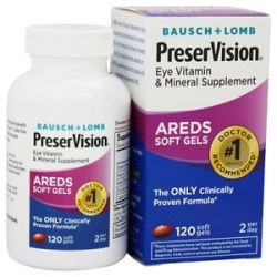 Bausch Lomb Preservision Areds Formula 120 Softgels