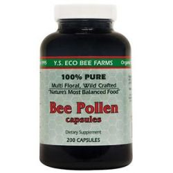YS Organic Bee Farms Bee Pollen 500 MG 200 Capsules
