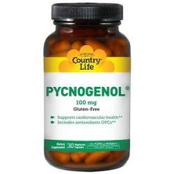 Country Life Pycnogenol 100 MG 30 Vegetarian Capsules