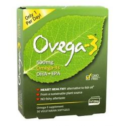 Ovega 3 Omega 3 DHA EPA 500 MG 30 Vegetarian Softgels