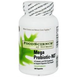 FOODSCIENCE of Vermont Mega Probiotic ND 120 Capsules