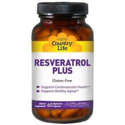 Country Life Resveratrol Plus 60 Vegetarian Capsules