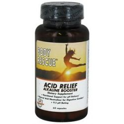 Body Rescue Acid Relief Alkaline Booster 60 Capsules