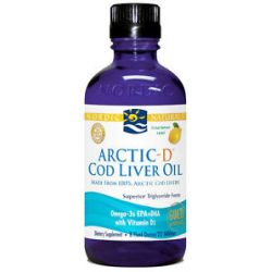 Nordic Naturals Arctic D Cod Liver Oil with Vitamin D Lemon 8 Oz