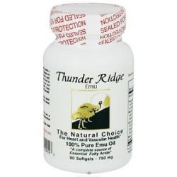 Thunder Ridge Emu Products 100 Pure Emu Oil Gel Caps 90 Softgels