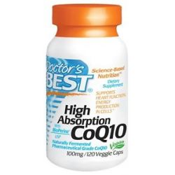 Doctor's Best High Absorption CoQ10 100 MG 120 Vegetarian Capsules