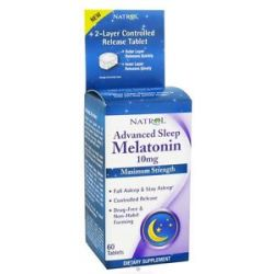 Natrol Melatonin Advanced Sleep Maximum Strength 10 MG 60 Tablets
