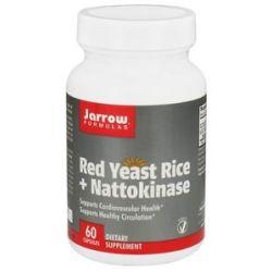 JARROW Formulas Red Yeast Rice Nattokinase 60 Vegetarian Capsules