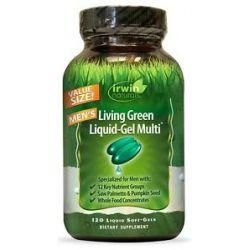 Irwin Naturals Living Green Liquid Gel Multi for Men 120 Softgels
