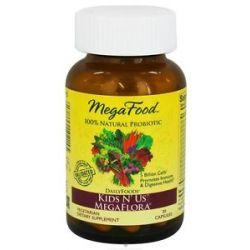 MegaFood Dailyfoods Kids N' US Megaflora 30 Vegetarian Capsules