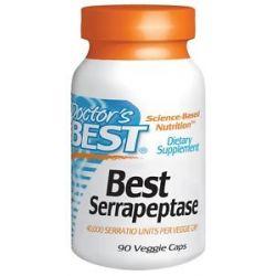 Doctor's Best Best Serrapeptase 40000 IU 90 Vegetarian Capsules