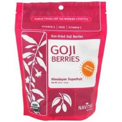 Navitas Naturals Sun Dried Goji Berries Certified Organic 8 Oz