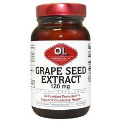 Olympian Labs Grape Seed Extract 120 MG 100 Vegetarian Capsules