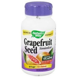 Nature's Way Grapefruit Seed Standardized 60 Vegetarian Capsules