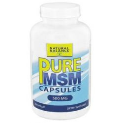 Natural Balance Pure MSM 500 MG 250 Capsules formerly Trimedica 744665001346